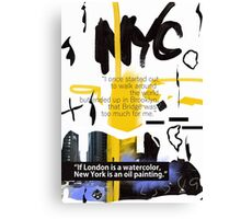 NYC POSTER scribble quote Canvas Print