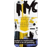 NYC POSTER scribble quote iPhone Case/Skin
