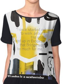NYC POSTER scribble quote Chiffon Top