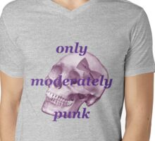 Only Moderately Punk Mens V-Neck T-Shirt
