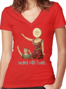 Neutral milk hotel Women's Fitted V-Neck T-Shirt