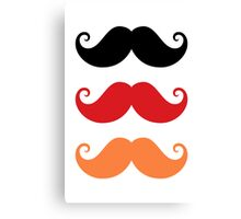 Mustache: black, red and orange Canvas Print