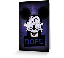 Mickey Hands dope Greeting Card