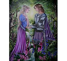 Fairy knight couple Photographic Print