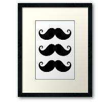 Mustache! Framed Print