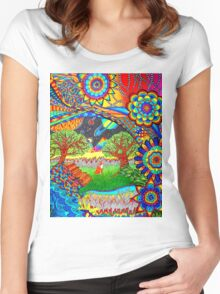'Intergalactic Fox' Women's Fitted Scoop T-Shirt