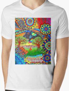 'Intergalactic Fox' Mens V-Neck T-Shirt