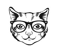 Hipster Cat by silvianeto
