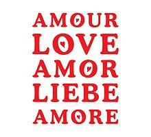 The Language of Love - Text Art by Silvia Neto