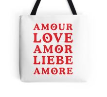 The Language of Love - Text Art Tote Bag