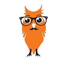 Orange Owl Hipster Nr. 02 by silvianeto