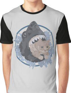 Shark Cat Graphic T-Shirt