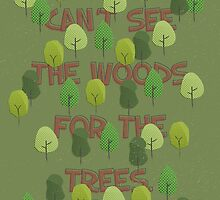 Can't see the woods for the trees by wordquirk