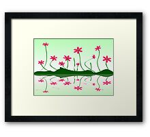 Bee Flowers Framed Print