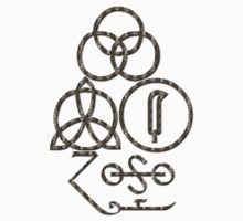 LED ZEPPELIN BAND SYMBOLS (BROWN SNAKE) by Endlessgrief