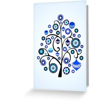 Blue Ornaments Greeting Card