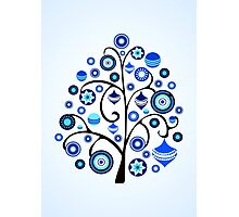 Blue Ornaments Photographic Print