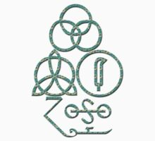 LED ZEPPELIN BAND SYMBOLS (RAINBOW SMILIES) by Endlessgrief