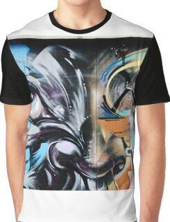 Abstract Graffiti Face on the textured brick wall Graphic T-Shirt