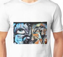 Abstract Graffiti Face on the textured brick wall T-Shirt