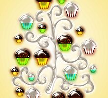 Cupcake Glass Tree by Anastasiya Malakhova