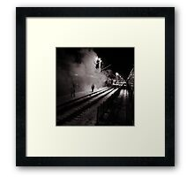 Goodbye Desolate Railyard  Framed Print
