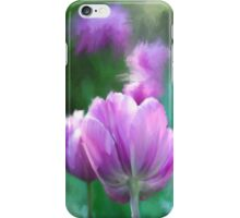 Painted Pink Tulips iPhone Case/Skin