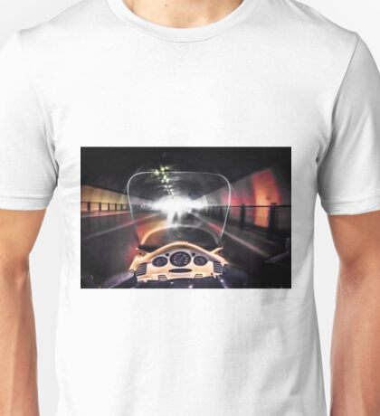Speeding through the tunnel Unisex T-Shirt