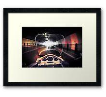 Speeding through the tunnel Framed Print