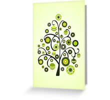 Green Ornaments Greeting Card