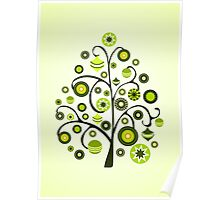 Green Ornaments Poster