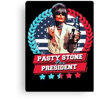 pasty for president Canvas Print