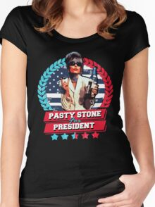 pasty for president Women's Fitted Scoop T-Shirt