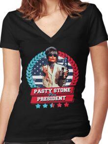 pasty for president Women's Fitted V-Neck T-Shirt
