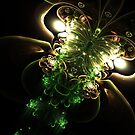 Shine - Abstract Fractal Artwork by EliVokounova