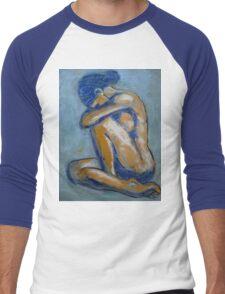 Blue Soul - Female Nude Men's Baseball ¾ T-Shirt