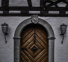 Doorway - Portal - 18th Century Old Door - Photography - Card by deanworld