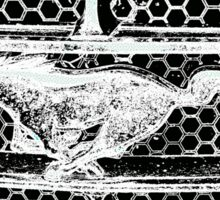 The Silver Mustang Sticker
