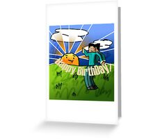 Minecraft Birthday Card Greeting Card