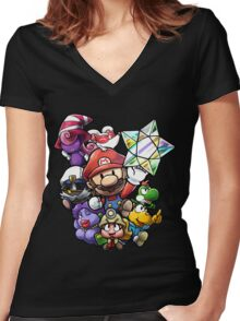 The Thousand Year Door Women's Fitted V-Neck T-Shirt