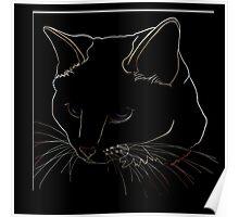 Cat Line - Neutral Colors Poster