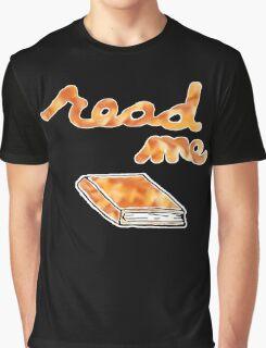 Read Me in Orange Graphic T-Shirt
