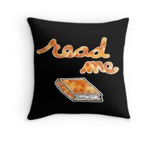 Read Me in Orange Throw Pillow