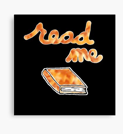 Read Me in Orange Canvas Print