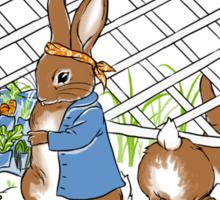 Peter's Backyard Bargains, rabbit, gardening Sticker