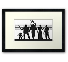 The Usual (Horror) Suspects Framed Print