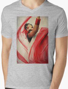 of color.  Mens V-Neck T-Shirt
