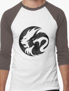 Black & White Lion Men's Baseball ¾ T-Shirt