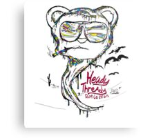fear and loathing in Heady Thready Metal Print