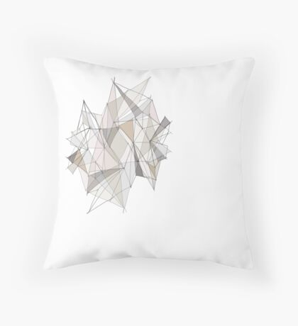Strong Lines Throw Pillow